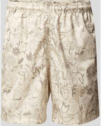 Jacquemus Badehose mit Allover-Muster - Natur