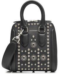 Alexander McQueen - Heroine Mini Embellished Leather Tote bag - Lyst