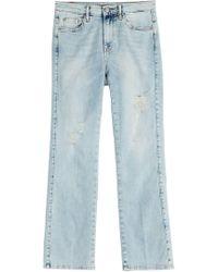 7 For All Mankind - Verwaschene Cropped Jeans - Lyst