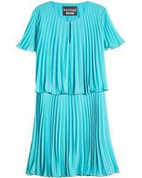 Boutique Moschino - Pleated Dress - Lyst