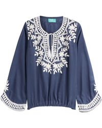 Taj - Embellished Silk Top - Lyst