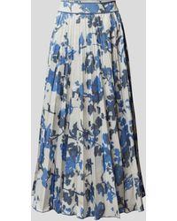 Agnona Midirock mit Allover-Muster - Blau