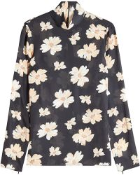 JOSEPH - Printed Blouse With Silk - Lyst