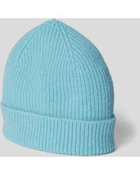 Le Bonnet Beanie mit Ripp-Optik - Blau