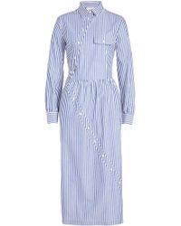 Stella Jean - Striped Cotton Shirt Dress - Lyst