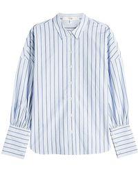Tibi - Striped Cotton Shirt - Lyst