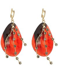 Marni - Embellished Earrings With Horn - Lyst