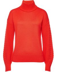 HUGO - Sonaly Virgin Wool Pullover - Lyst