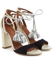 Malone Souliers - Gladys Suede And Leather Sandals With Tassels - Lyst