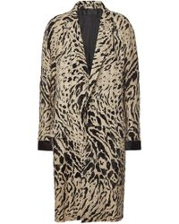 Haider Ackermann - Coat With Cotton And Fleece Wool - Lyst
