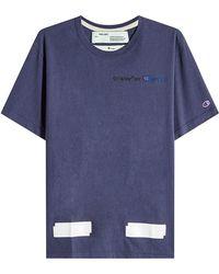 d20d819f1fbaa Lyst - T-shirt en coton X Champion Off-White C O Virgil Abloh pour ...