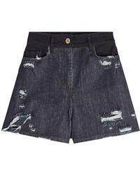 Public School - Thana Distressed Denim Shorts - Lyst