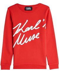 Karl Lagerfeld - Karl's Muse Cotton Sweatshirt - Lyst