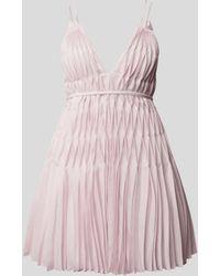 Giovanni bedin Plissiertes Minikleid - Pink