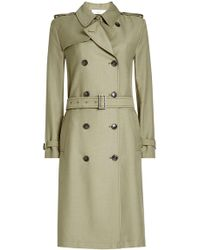 Closed - Trench Coat With Cotton - Lyst