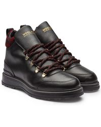Woolrich - Hiker Leather Ankle Boots - Lyst