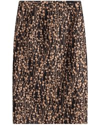 Michael Kors - Printed Cotton Skirt With Silk - Lyst