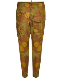 DSquared² - Camouflage Cotton Cargo Trousers - Lyst