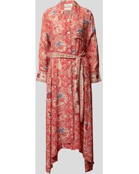 Chufy Maxikleid mit Allover-Muster - Rot