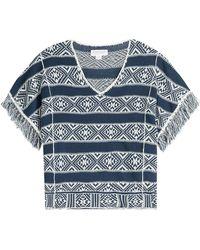 Velvet - Fringed Cotton-linen Top - Lyst