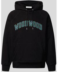 WOOD WOOD Hoodie mit Label-Print - Schwarz