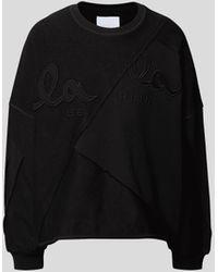 Lala Berlin - Sweatshirt mit Logo-Patch - Lyst