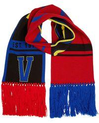 Versace - Printed Wool Scarf - Lyst