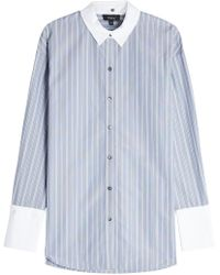 Theory - Striped Shirt With Cotton - Lyst