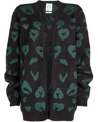 Zoe Karssen - Printed Cardigan With Wool And Mohair - Lyst