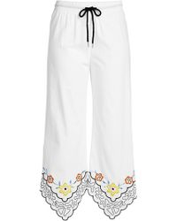 See By Chloé | Cropped Cotton Pants With Embroidery | Lyst