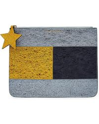 Tommy Hilfiger - Metallic Leather Pouch - Lyst