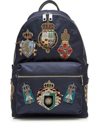 Dolce & Gabbana - Backpack With Crest Patches - Lyst