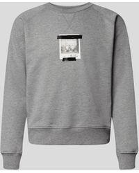 N°21 Sweatshirt mit Print - Grau