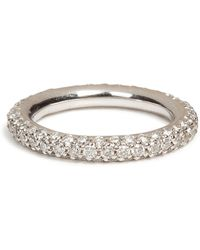 Carolina Bucci - 18k White Gold 1885 Chunky Ring With Pave Diamonds - Lyst