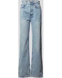 Anine Bing Jeans mit Brand-Detail - Blau