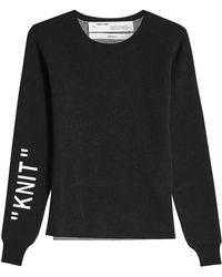 Off-White c/o Virgil Abloh - Knit Pullover - Lyst