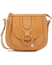 See By Chloé - Leather And Suede Shoulder Bag - Lyst