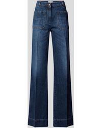 Victoria Beckham Wide Leg Jeans - Blau