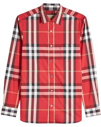 Burberry | Printed Shirt With Cotton | Lyst