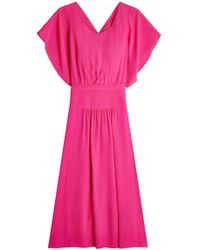 N°21 - Draped Dress With Silk - Lyst