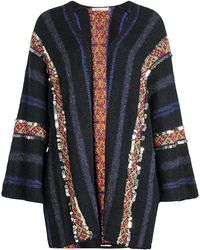 Mes Demoiselles - Embellished Cardigan With Wool, Alpaca And Cotton - Lyst