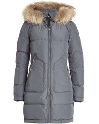 Parajumpers - Light Long Bear Down Parka With Fur-trimmed Hood - Lyst