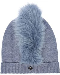Charlotte Simone - Mo Mohawk Cashmere Hat With Fox Fur - Lyst