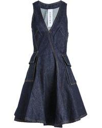 Carven - Denim Mini Dress - Lyst