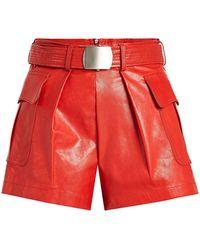 Philosophy Di Lorenzo Serafini | Leather Shorts | Lyst