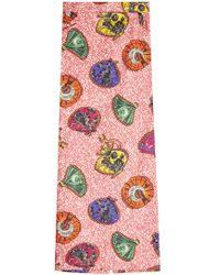 Stella Jean - Printed Cotton Tube Skirt - Lyst