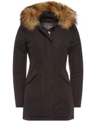 Woolrich - Luxury Arctic Down Parka With Fur-trimmed Hood - Lyst