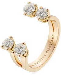 Delfina Delettrez - 18kt Pink Gold Ring With Diamonds - Lyst
