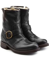Fiorentini + Baker | Fur Lined Leather Ankle Boots | Lyst