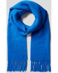 AMI Schal mit Label-Stitching - Blau